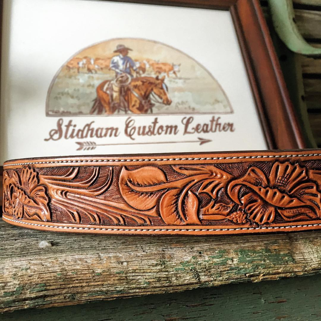 Stidham Custom Leather Belt